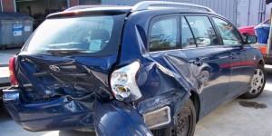 verunfallter Toyota in Rodenkirchen